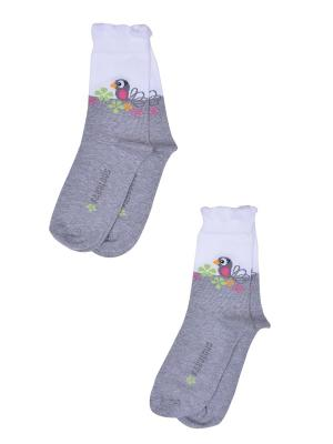 Носки, 2 пары Skinija. Цвет: белый