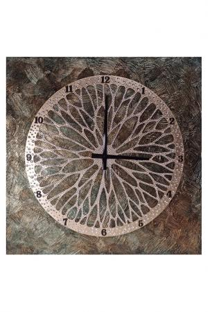 Картина-часы Колесо Хотея MARIARTY. Цвет: зеленый