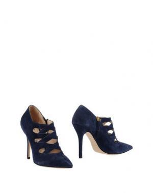 Ботинки FEDERICA STELLA. Цвет: темно-синий