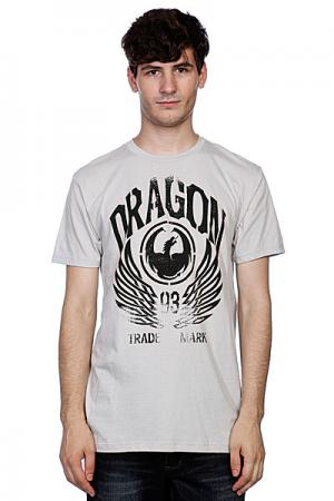 Футболка  Iconic Work Silver Grey Dragon. Цвет: серый