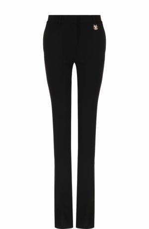 Однотонные расклешенные брюки с карманами Roberto Cavalli. Цвет: черный