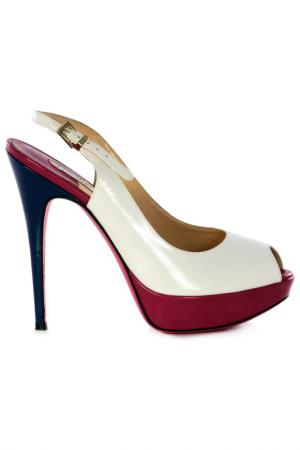 Босоножки на каблуках Luciano Padovan. Цвет: мультицвет