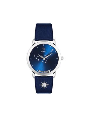 Часы ювелирные лимитированная коллекция Galaxy Capricorn-Козерог QWILL. Цвет: синий