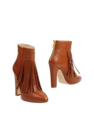 Полусапоги и высокие ботинки MAIYET. Цвет: коричневый