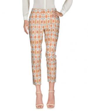 Повседневные брюки TRUE ROYAL. Цвет: телесный