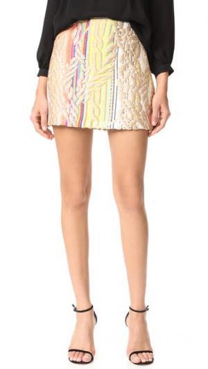 Радужная металлизированная юбка Cynthia Rowley. Цвет: мульти