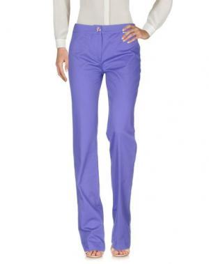 Повседневные брюки ROCCOBAROCCO. Цвет: фиолетовый