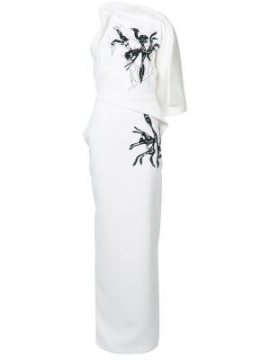 Длинное платье Morphology Maticevski. Цвет: белый