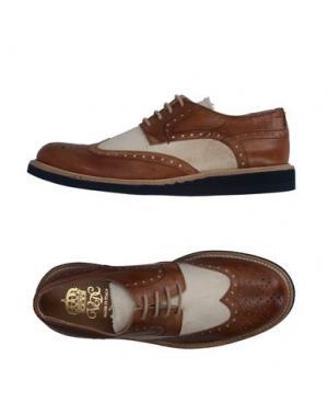 Обувь на шнурках VIA DEI CALZAIUOLI. Цвет: коричневый