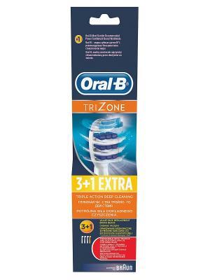 Сменные насадки ORAL-B Trizone 4 шт (3+1) для электрических зубных щеток ORAL_B. Цвет: белый