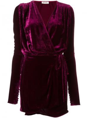 Платье Anjelica Attico. Цвет: розовый и фиолетовый