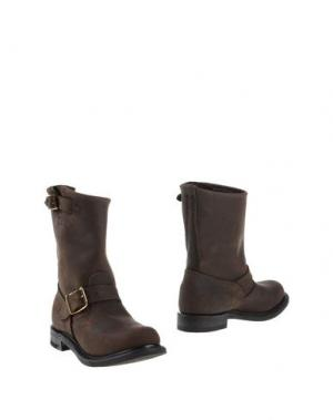 Полусапоги и высокие ботинки WALKER. Цвет: темно-коричневый