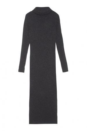 Платье из шерсти мериноса с кашемиром Mixer. Цвет: темно-серый