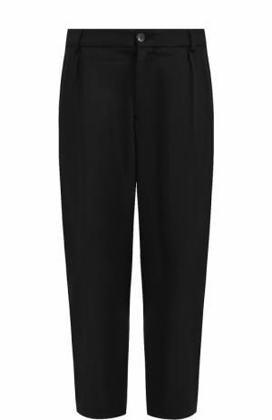 Шерстяные укороченные брюки свободного кроя Damir Doma. Цвет: черный