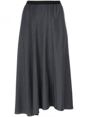 Асимметричная юбка миди Ter Et Bantine. Цвет: серый