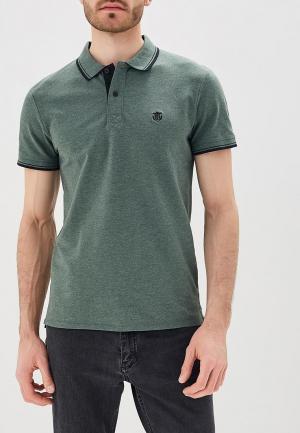 Поло Selected Homme. Цвет: зеленый