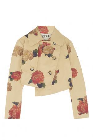 Хлопковый жакет A.W.A.K.E.. Цвет: бежевый, малиновый