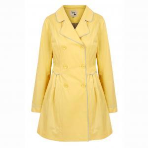 Пальто-тренч водонепроницаемое однотонного цвета YUMI. Цвет: зеленый