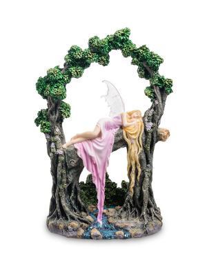 Статуэтка в стиле Фэнтези Спящая красавица (Селина Фенек) Veronese. Цвет: серый, розовый