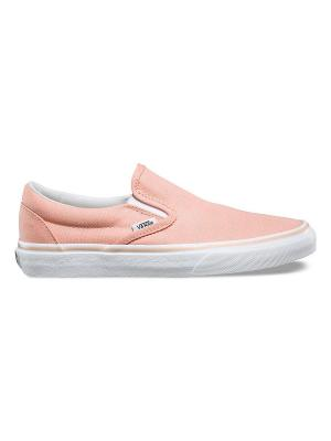 Слипоны VANS. Цвет: розовый, белый