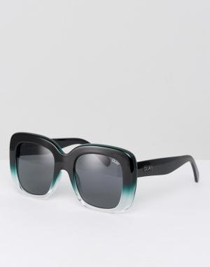 Quay Australia Черные солнцезащитные очки в большой квадратной оправе. Цвет: черный