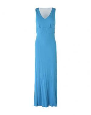 Длинное платье MARTA PALMIERI. Цвет: лазурный