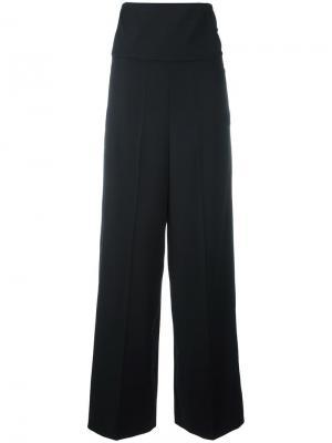 Широкие брюки с завышенной талией Ports 1961. Цвет: чёрный