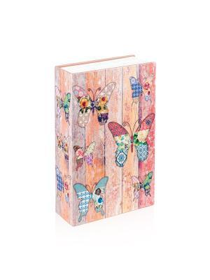 Сейф-книга Бабочки Aztek. Цвет: красный, оранжевый, розовый