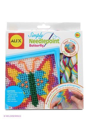 Набор для вышивания Бабочка Alex. Цвет: голубой