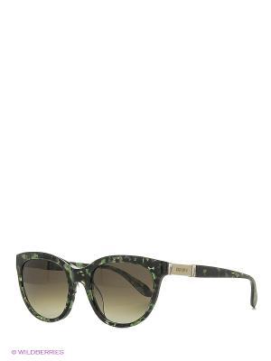 Солнцезащитные очки MO 799S 03 MOSCHINO. Цвет: зеленый
