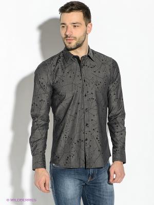 Рубашка GUESS. Цвет: темно-серый