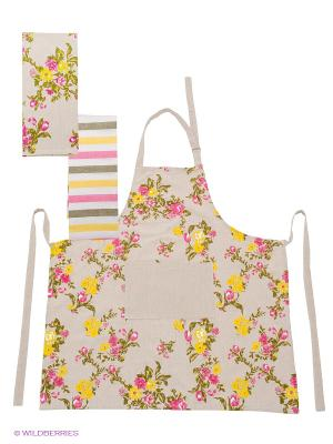 Набор кухонный ARLONI. Цвет: темно-бежевый, розовый, желтый, белый