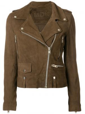 Байкерская куртка Munderingskompagniet. Цвет: коричневый