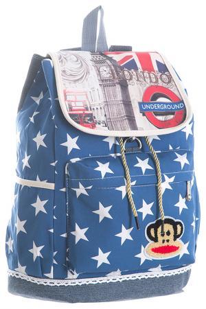 Рюкзак BAGSTONE. Цвет: голубой