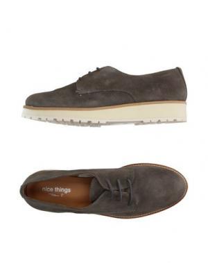 Обувь на шнурках NICE THINGS by PALOMA S.. Цвет: свинцово-серый
