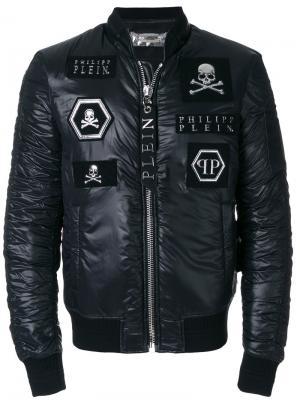 Куртка-бомбер Adam Philipp Plein. Цвет: чёрный