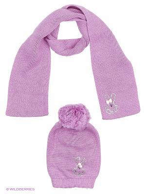 Комплект детский (шапка, шарф) R&I. Цвет: фиолетовый
