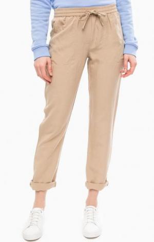 Бежевые зауженные брюки Gant. Цвет: бежевый