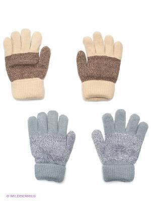 Перчатки, 2 пары FOMAS. Цвет: серый, бежевый