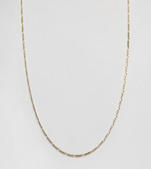 DesignB London Позолоченное серебряное ожерелье-цепочка эксклюзивно для ASOS. Цвет: серебряный