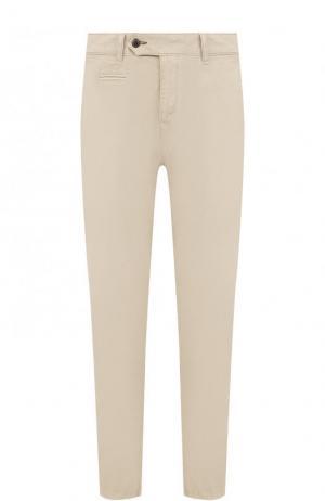 Хлопковые брюки прямого кроя Bogner. Цвет: бежевый
