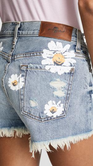 Cutoff Shorts with Daisies 7 For All Mankind