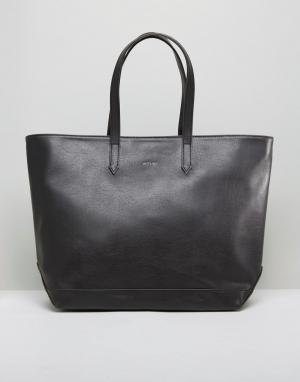 Matt & nat Черная сумка-тоут Minimal. Цвет: черный