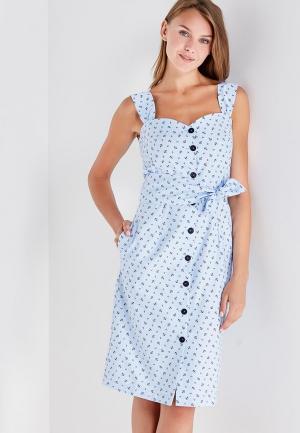 Платье Clabin. Цвет: голубой