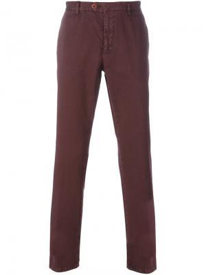 Классические брюки чинос Etro. Цвет: розовый и фиолетовый
