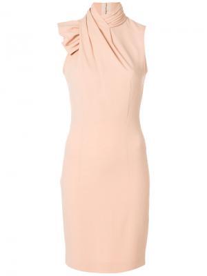 Платье с воротником-шалькой Dsquared2. Цвет: розовый и фиолетовый
