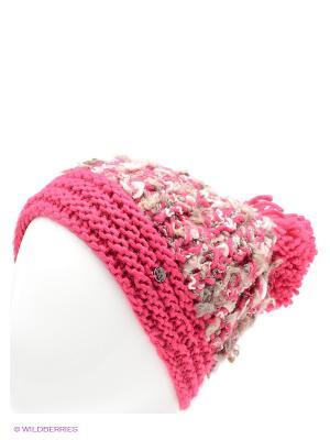 Шапка CMP. Цвет: розовый, коричневый