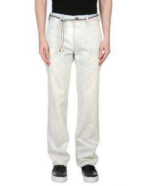Джинсовые брюки SHIELD. Цвет: синий