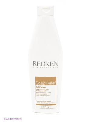 Шампунь очищающий для жирной кожи головы и волос, скэлп релиф ойл детокс, 300мл REDKEN. Цвет: белый