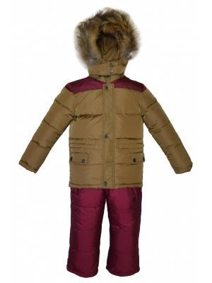 Комплект(куртка,полукомбинезон) BORELLI. Цвет: горчичный